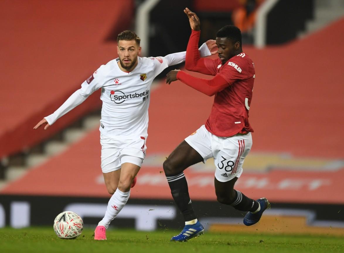 Danish winger Philip Zinckernagel made his debut against Man Utd in the FA Cup.